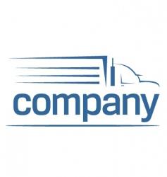 transport logo vector image vector image