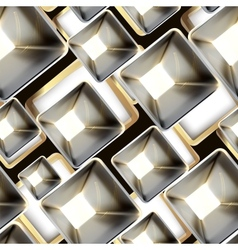 Abstract metal seamless pattern vector image
