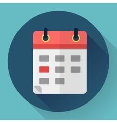 Calendar or mobile app organizer icon vector image