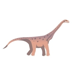 Colorful cartoon with dinosaur diplodocus vector