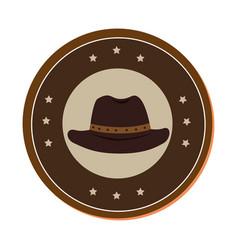 cowboy hat wild west icon vector image