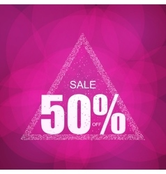 Discount the best offer with confetti on the sale vector image vector image