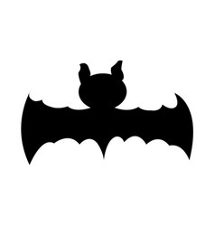 isolated bat silhouette vector image