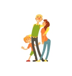 Parents and child loving Happy young family vector image