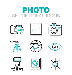 set of photography icons vector image