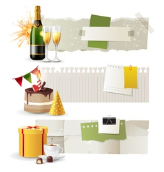 Celebration banners vector