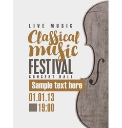 concert of classical music vector image