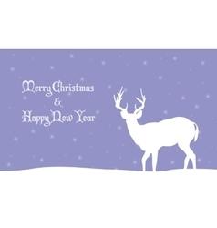 deer winter Christmas scenery vector image vector image