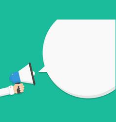 talk announcing through a megaphone vector image