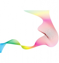 wave rainbow stream vector image vector image