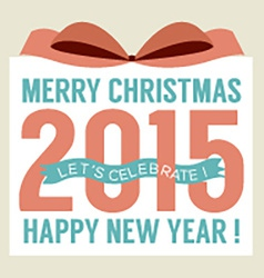 2015 Greeting Card Flat Design vector image
