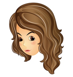 A face of a curly haired girl vector image