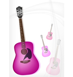A Pink Guitar on Modern Elegance Background vector