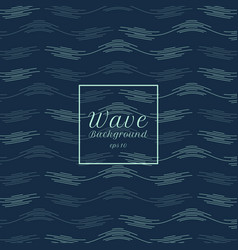 abstract blue water wave line pattern background vector image