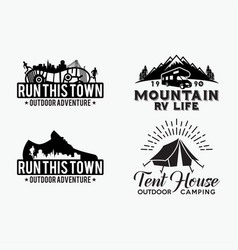 adventure logo badges 8 vector image