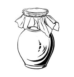 Antique jug vector
