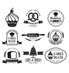 Bakery shop logo vector