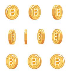 bitcoin rotation animation coin technology digital vector image