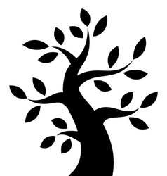 Black Bold Tree icon vector