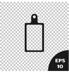 Black cutting board icon isolated on transparent vector