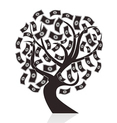 black money tree vector image