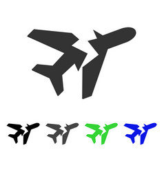 break airplane flat icon vector image