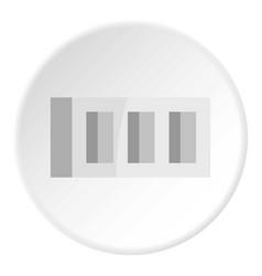 Building block icon circle vector