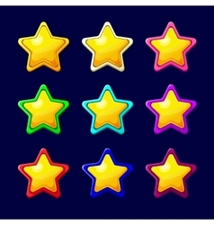 Cartoon colorful glossy Star vector image