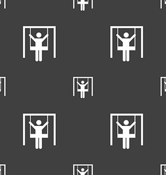 child swinging icon sign Seamless pattern on a vector image