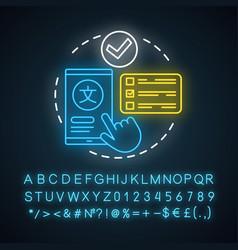 Choose translation service neon light concept vector