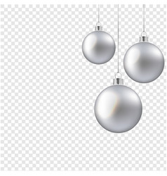 Christmas balls isolated transparent background vector