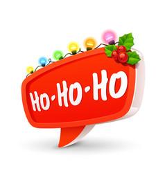 Christmas bubble for speech vector