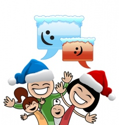 Christmas family vector image vector image