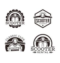 Classic scooter emblem vector