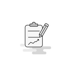clipboard web icon flat line filled gray icon vector image