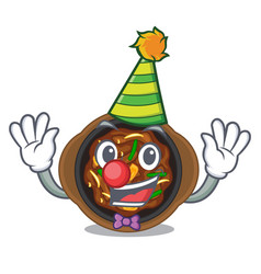 Clown bulgogi isolated with in character vector