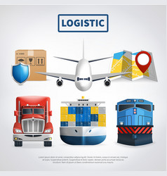 colored logistic poster vector image