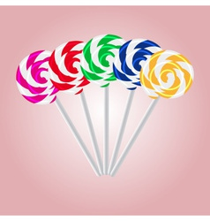 colorful sweet lollipops eps10 vector image