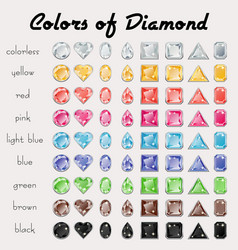 Colors diamond vector