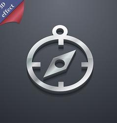 Compass icon symbol 3D style Trendy modern design vector