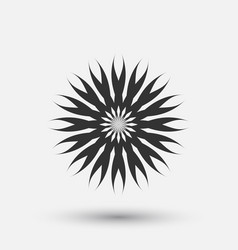creative icon - floral decorative element vector image