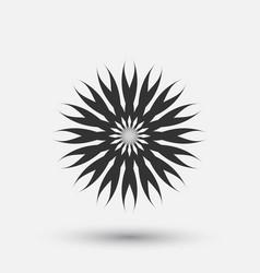 Creative icon - floral decorative element vector