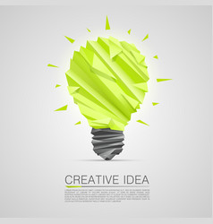 Creative idea of origami lamp vector