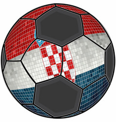 Croatia flag with soccer ball background vector