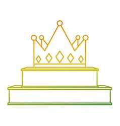crown on podium success winner vector image