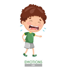 crying kid emotion vector image