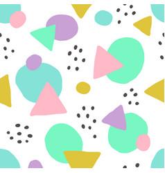 Cute geometric background seamless pattern vector