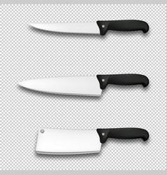 cutlery icon set - realistic diffrent vector image