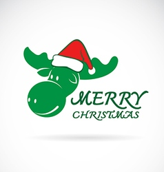 Deer merry christmas vector image