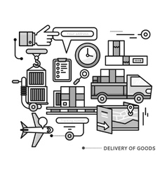 Delivery Service Aviation Customs Transport vector image